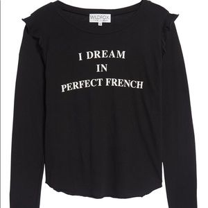 Wildfox I Dream in Perfect French Long Sleeve